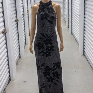 Algo Stretch Floral Sparkle Dress
